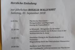 Rosalia Wallfahrt 2018